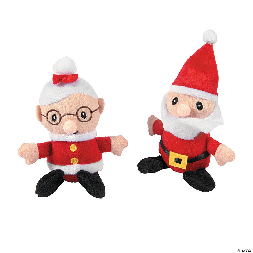 Santa & Mrs. Claus Plush Dolls