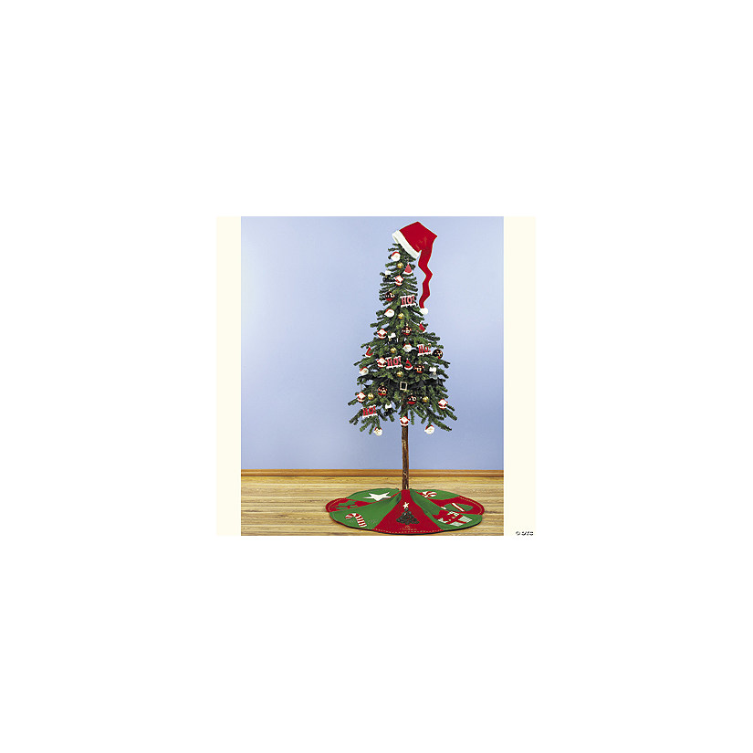 Santa Hat Christmas Tree Topper: Santa Hat Tree Topper And Belt