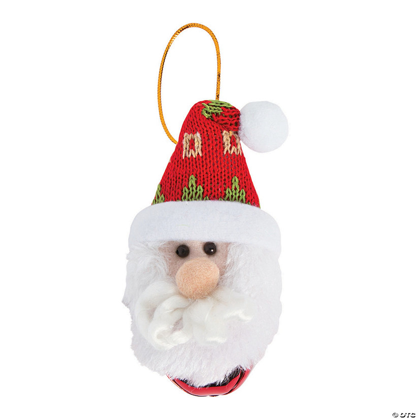 Santa Jingle Bell Ornaments