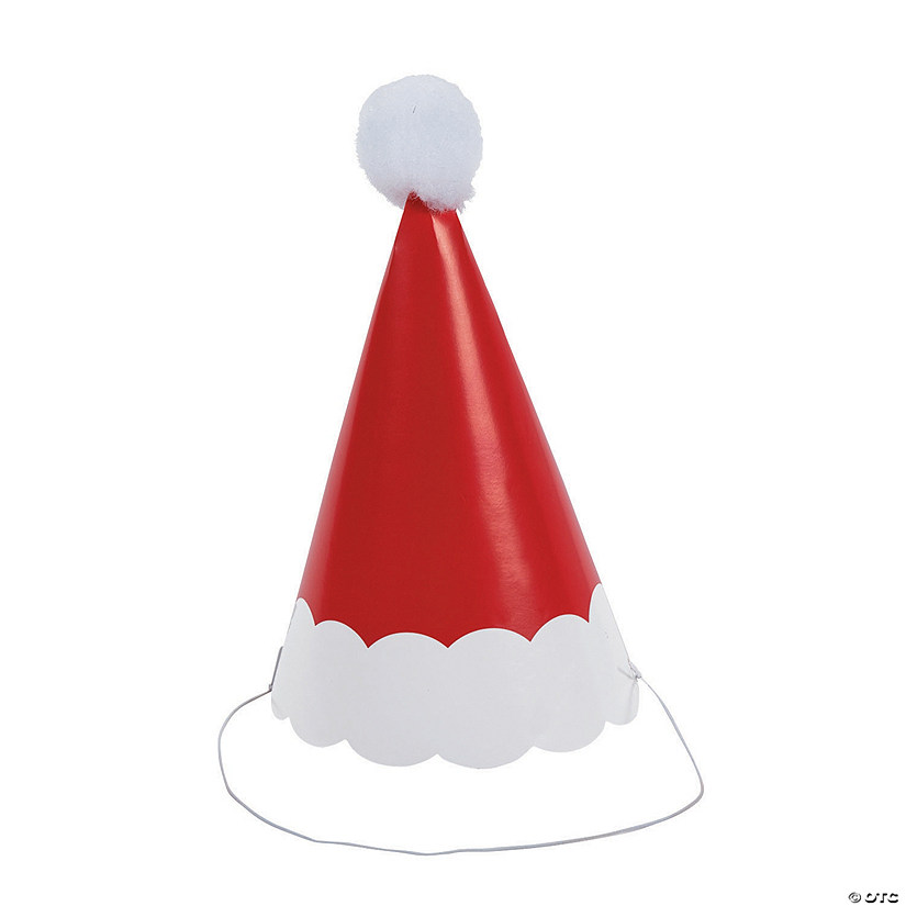 Santa Pom-Pom Cone Party Hats Audio Thumbnail