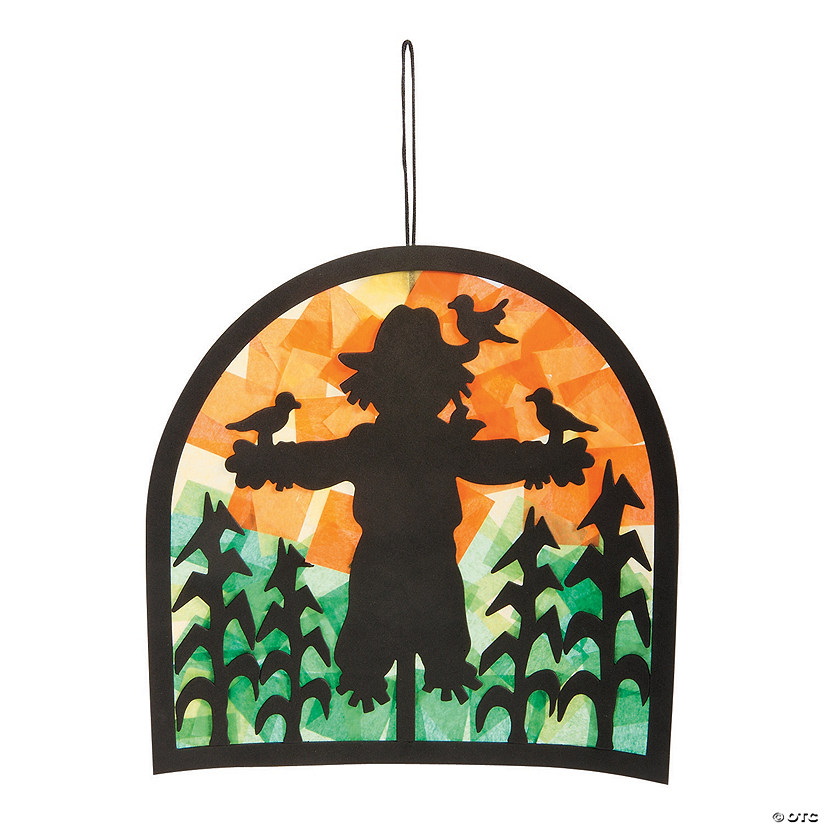 Scarecrow Scene Tissue Paper Craft Kit