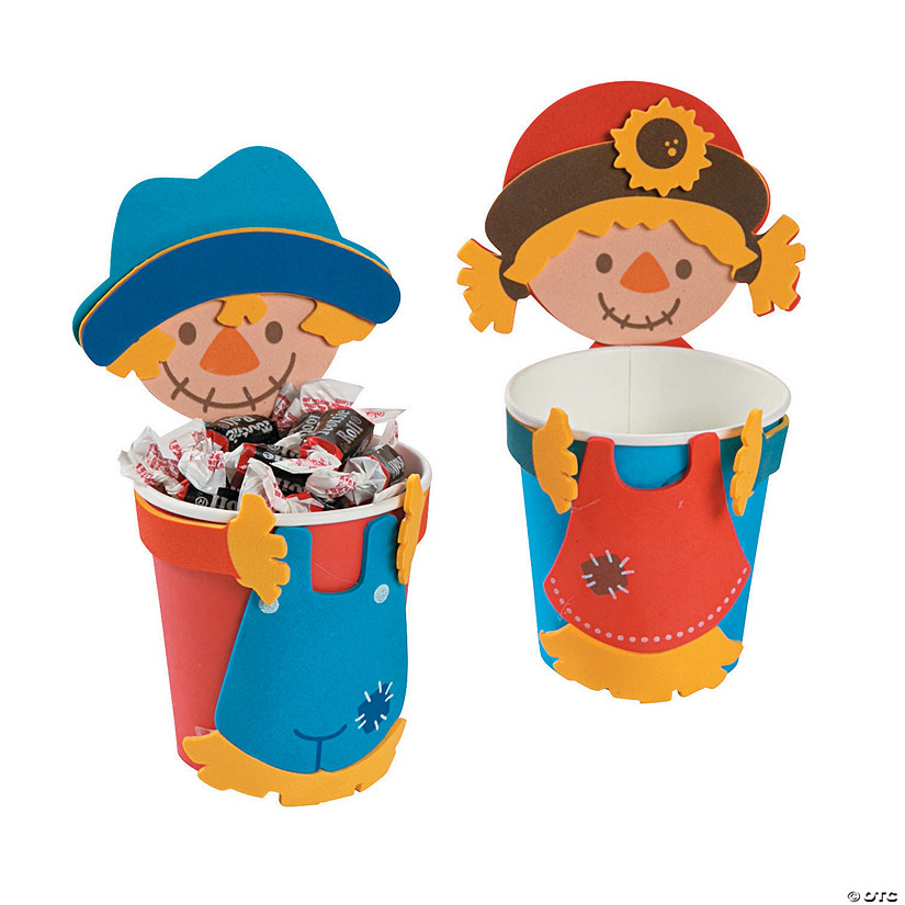 Scarecrow Treat Cup Hugger Craft Kit