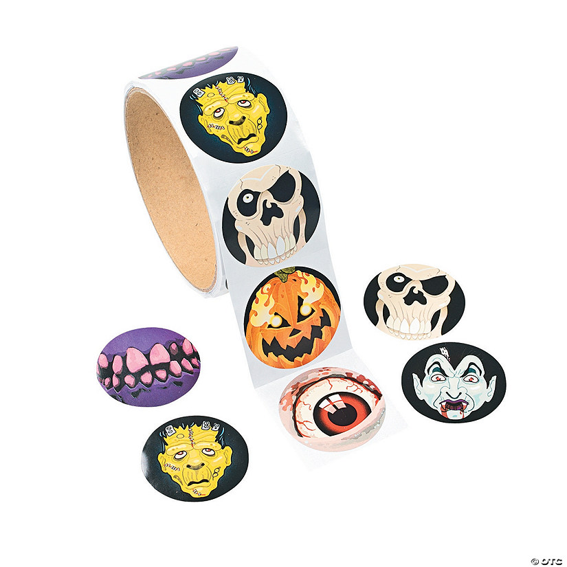 Scary Halloween Stickers Image Thumbnail