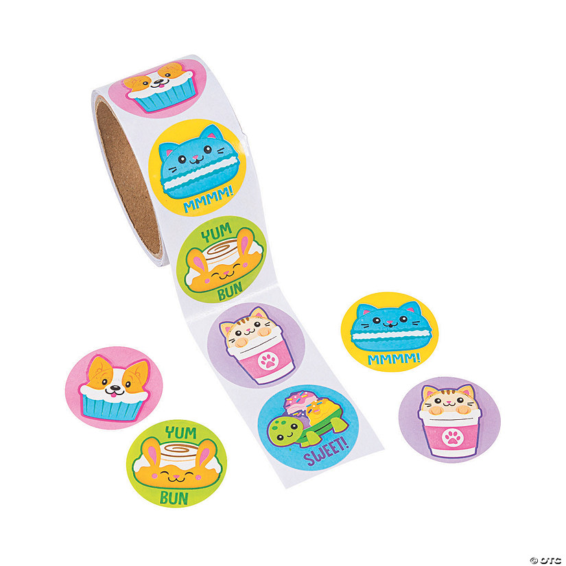 Scented Foodimals Roll Stickers