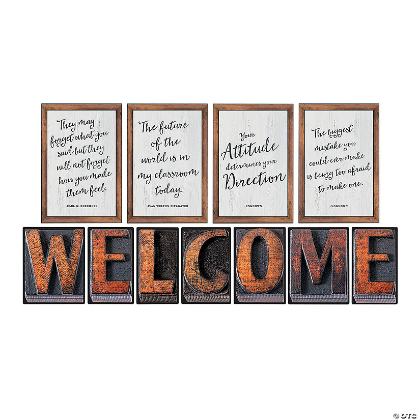 Schoolgirl Style™<sup> </sup>Industrial Chic Welcome Bulletin Board Set