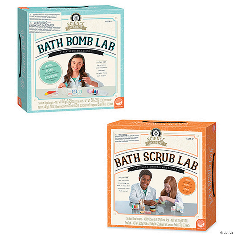 Science Academy: Bath Bomb and Bath Scrub Lab: Set of 2 Image Thumbnail