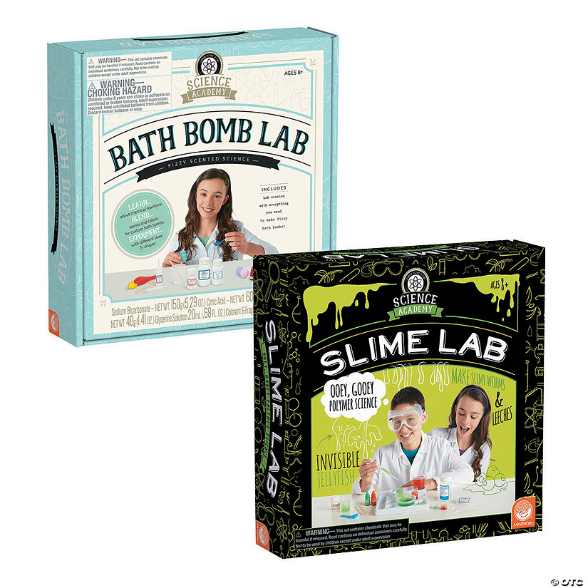Science Academy: Bath Bomb and Slime Lab: Set of 2 Image Thumbnail