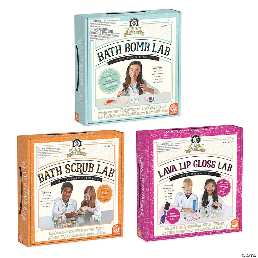 Science Academy: Bath Bomb, Bath Scrub and Lava Lip Gloss Lab: Set of 3 Audio Thumbnail