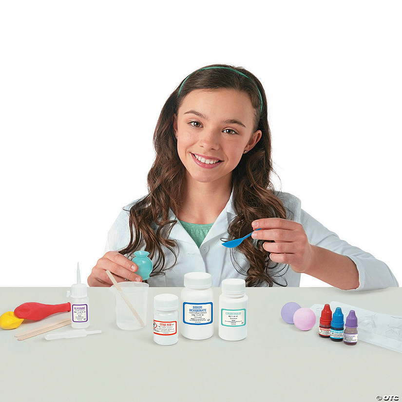Science Academy: Bath Bomb Lab with Lab Coat Image Thumbnail