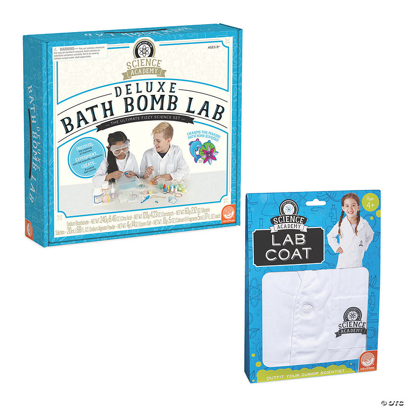 Science Academy: Deluxe Bath Bomb Lab and Lab Coat: Set of 2 Image Thumbnail