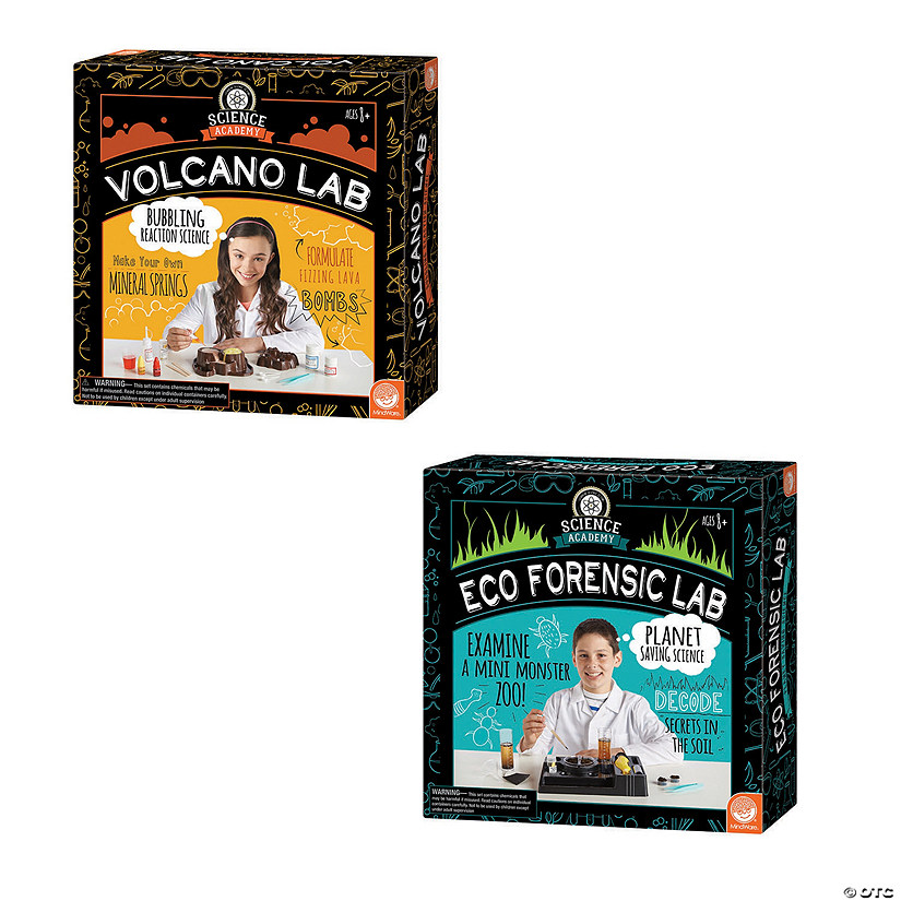 Science Academy: Volcano and Eco Forensics Lab: Set of 2