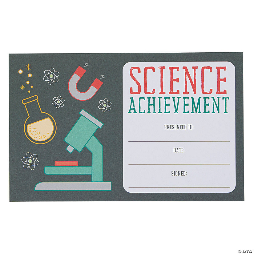 Science Achievement Award Certificates Audio Thumbnail