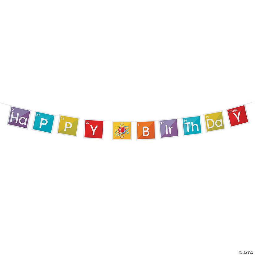 Science Party Birthday Paper Pennant Banner Audio Thumbnail
