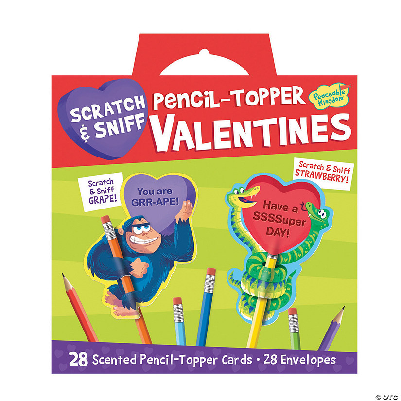 Scratch & Sniff Pencil Topper Super Fun Valentine Pack Image Thumbnail