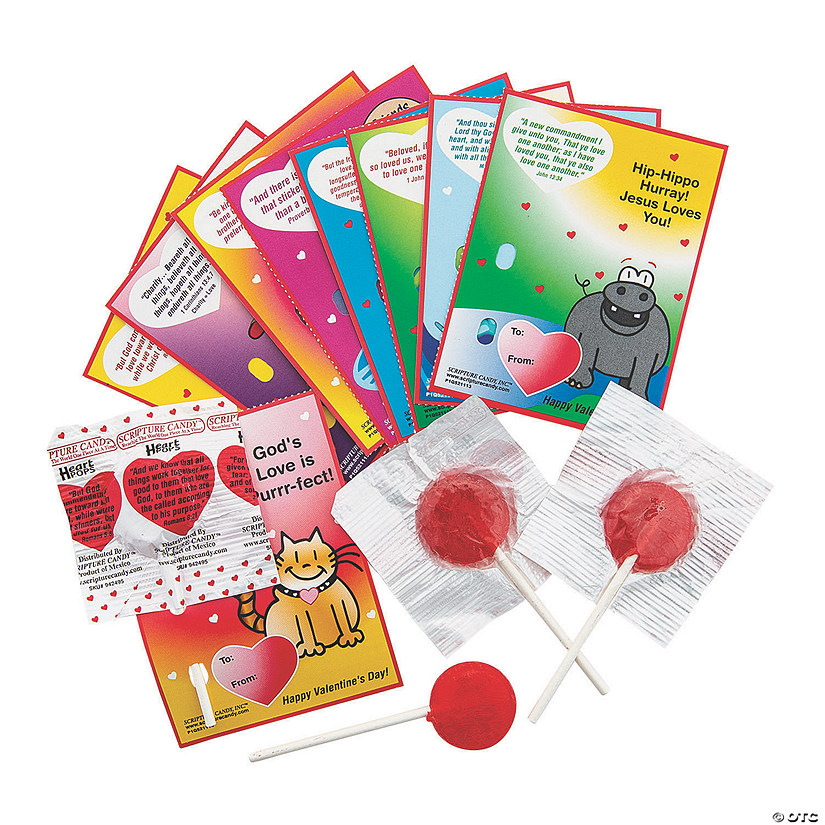 Scripture Candy™ Lollipops & Valentine's Day Card Kits