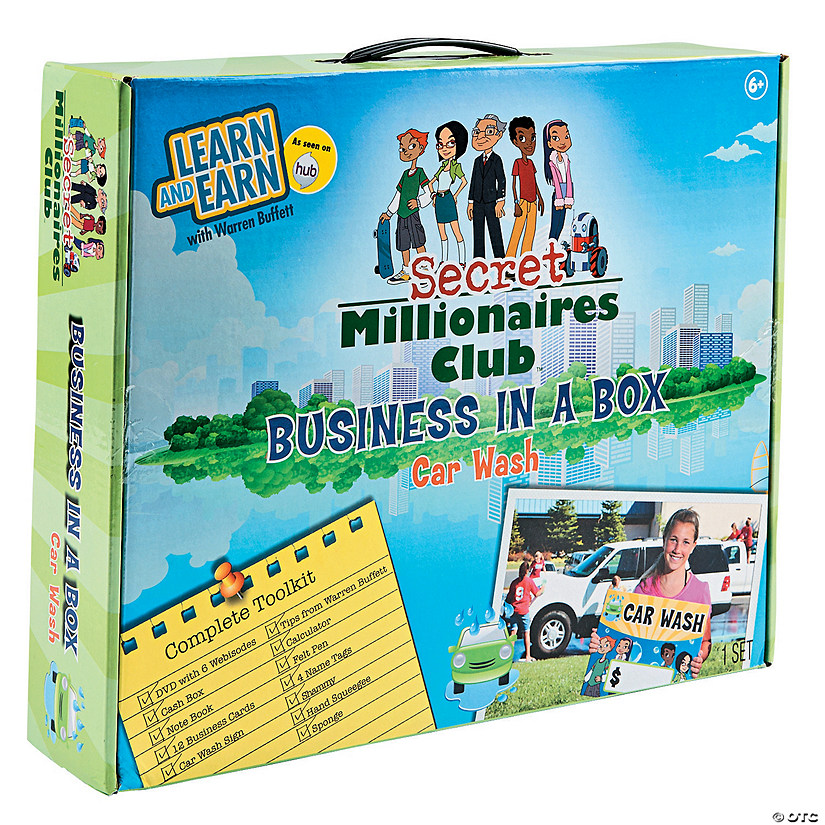 Secret Millionaires Club™ Business-In-A-Box Car Wash Educational Game
