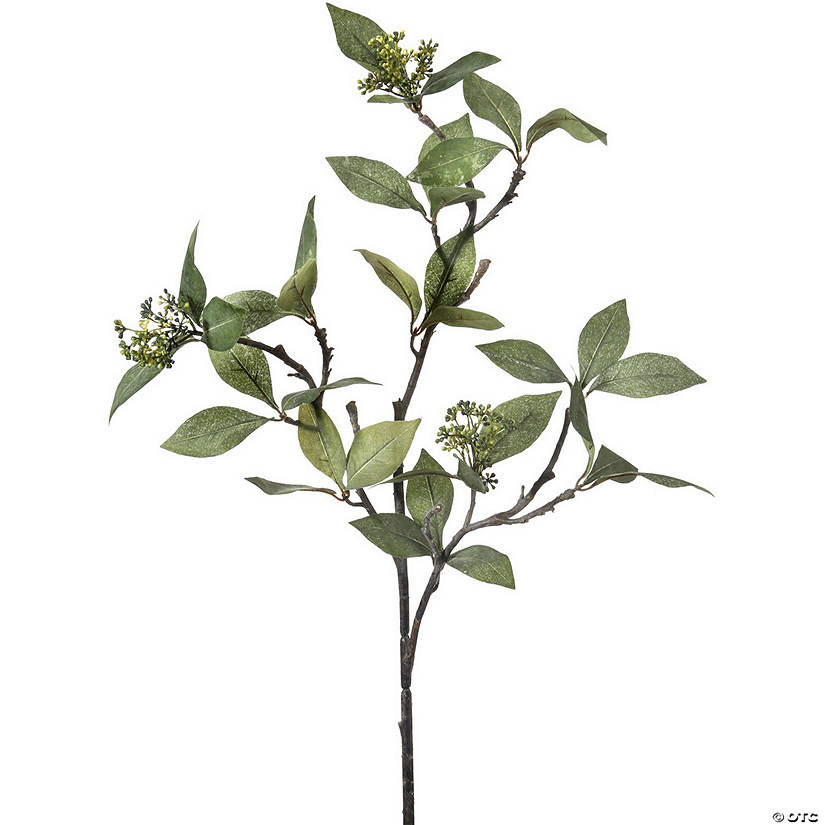 "Seeded Bay Leaf Branch 32""-Natural Green"