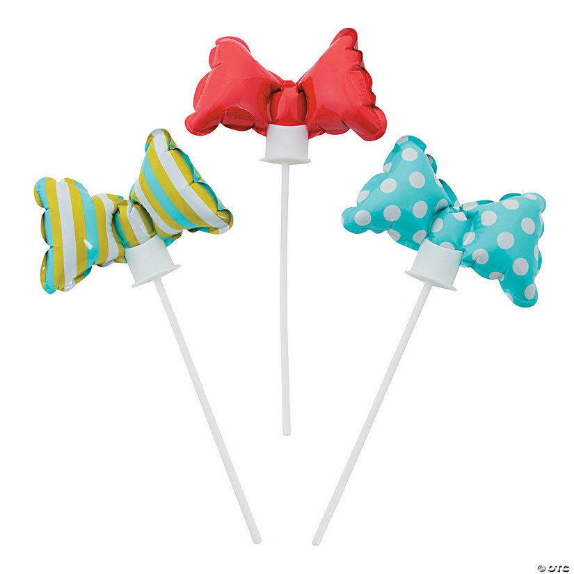 Self-Inflating Little Man Bow Tie Mylar Balloons