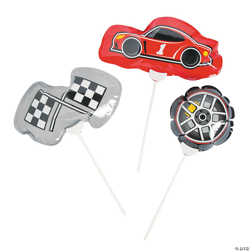 Self-Inflating Race Car Birthday Mylar Balloons Audio Thumbnail