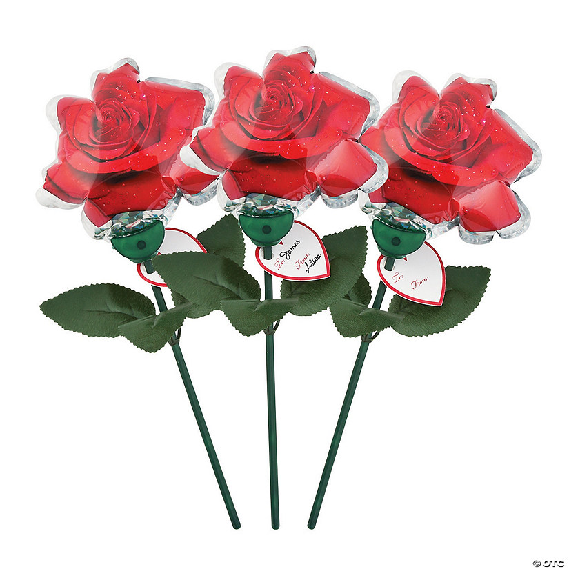 Self-Inflating Valentine Rose Mylar Balloons