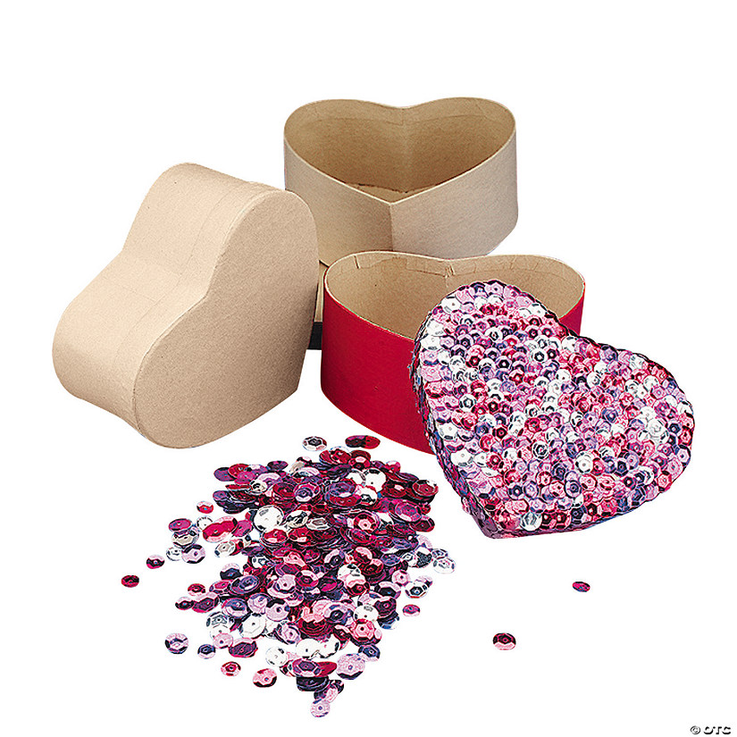 Sequin Hearts Box Craft Kits Image Thumbnail