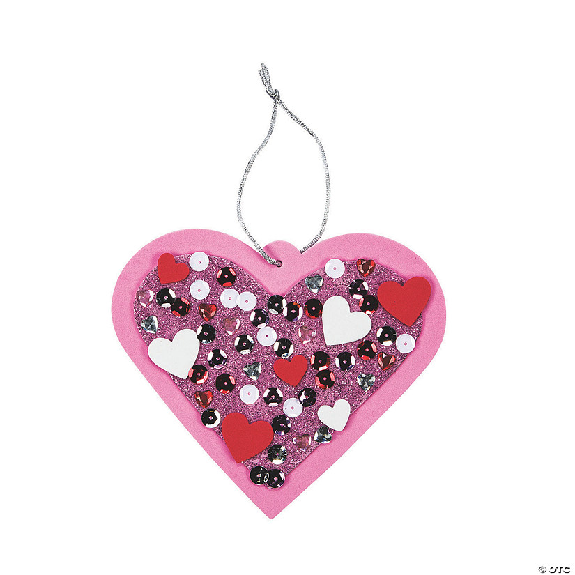 Sequin Valentine Ornament Craft Kit Image Thumbnail