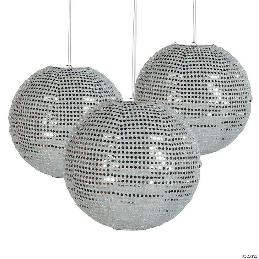 Sequined Silver Hanging Paper Lantern Audio Thumbnail
