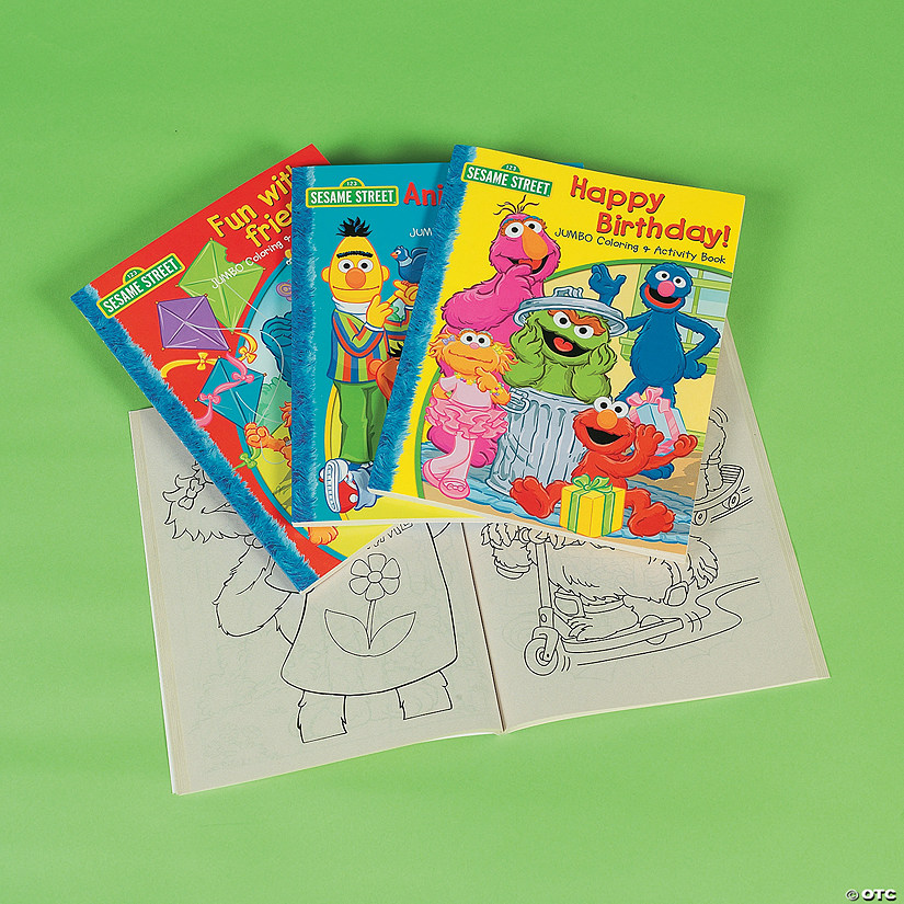 Sesame Street Jumbo Coloring Activity Book Sets Discontinued