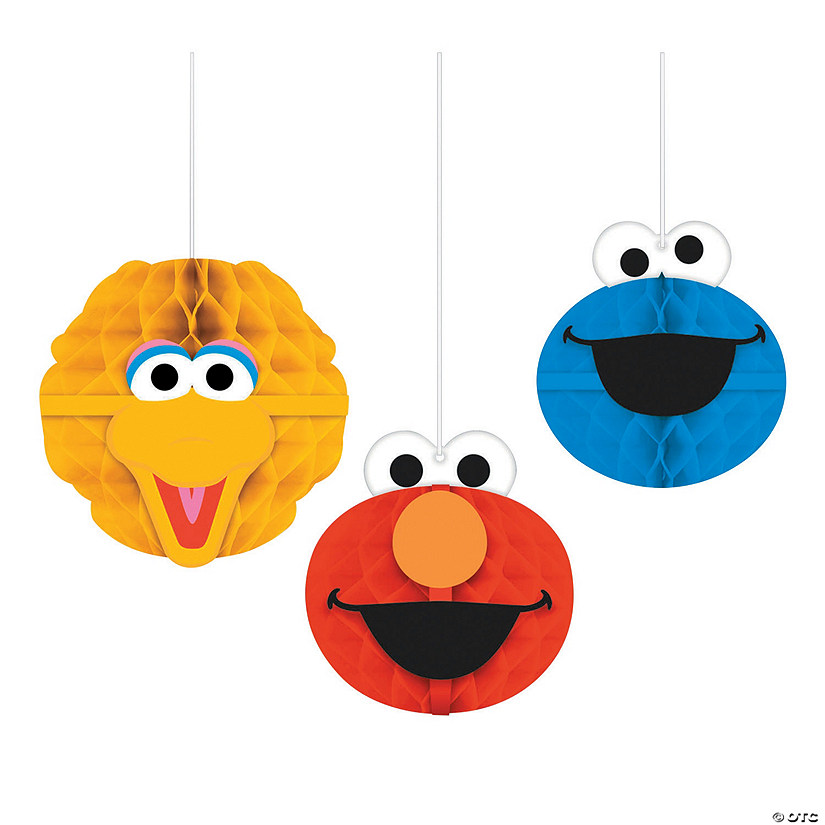 Sesame Street<sup>&#174; </sup>Honeycomb Hanging Decorations Audio Thumbnail