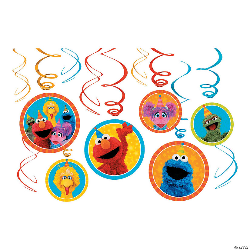 Sesame Street<sup>&#174; </sup>Swirl Decorations Audio Thumbnail