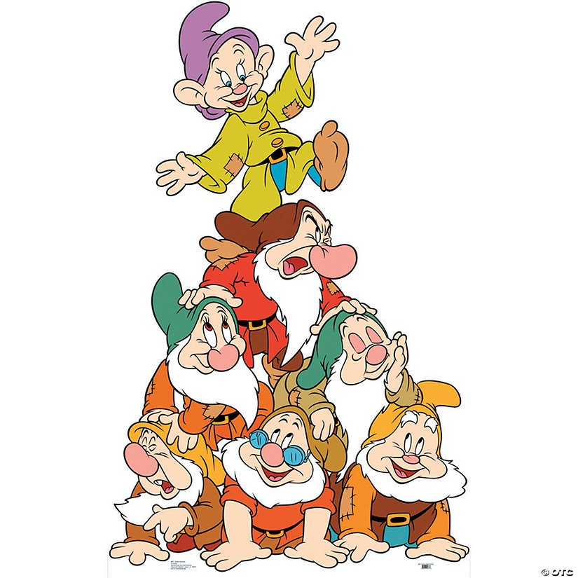 Seven Dwarfs Group Cardboard Stand-Up Audio Thumbnail