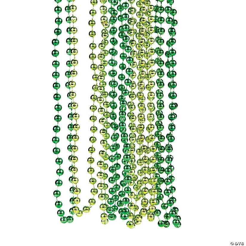Shades of Green Beaded Necklaces Image Thumbnail