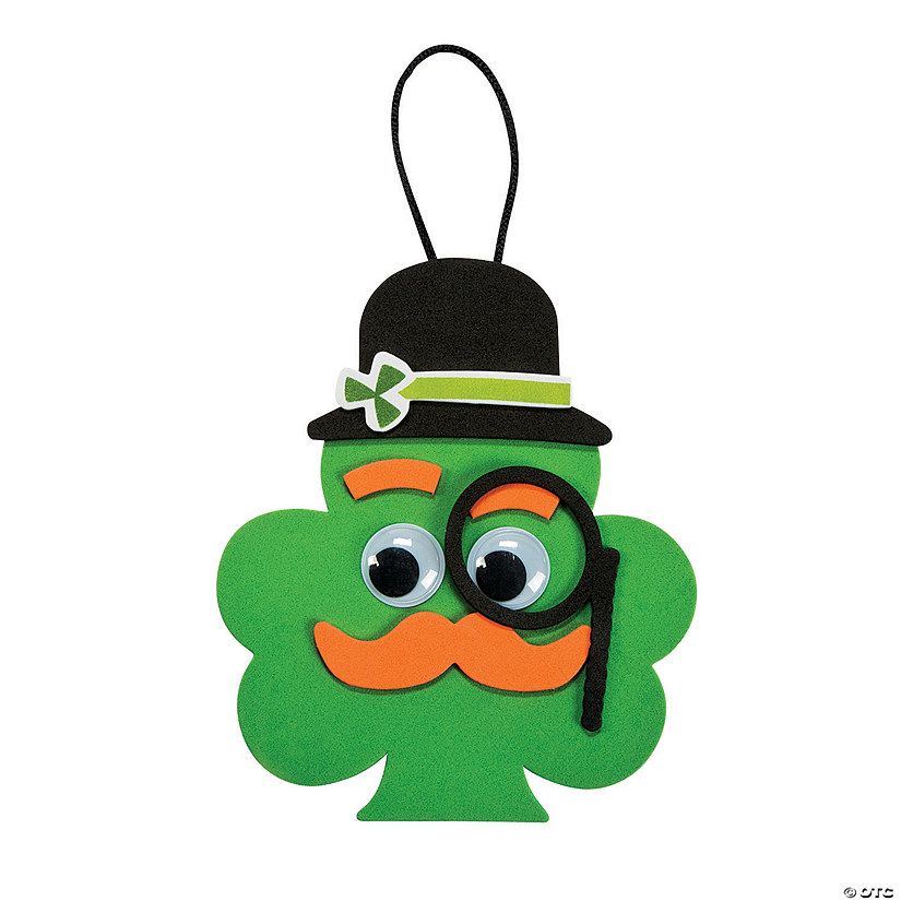 Shamrock with Mustache Ornament Craft Kit Image Thumbnail
