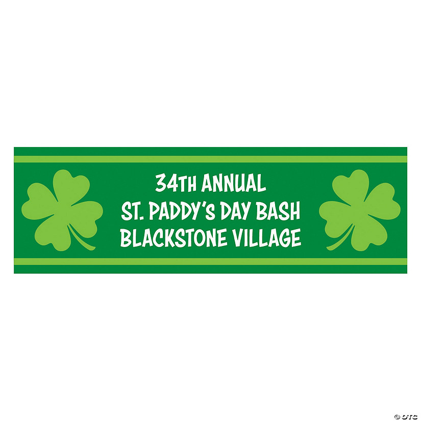 Shamrocks St. Patrick's Day Custom Banner Audio Thumbnail