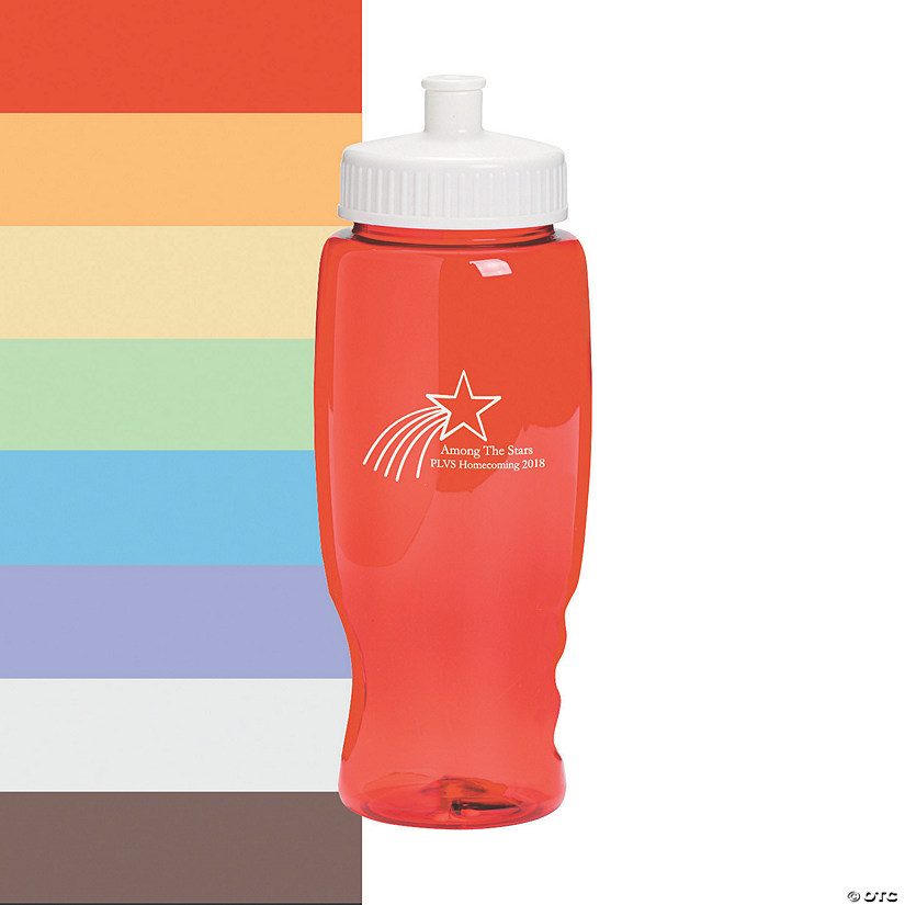 Shooting Star Personalized Plastic Water Bottles