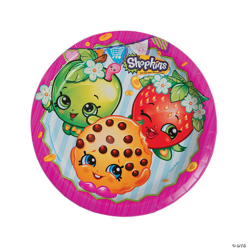Shopkins™ Paper Dinner Plates - 8 Ct. Image Thumbnail