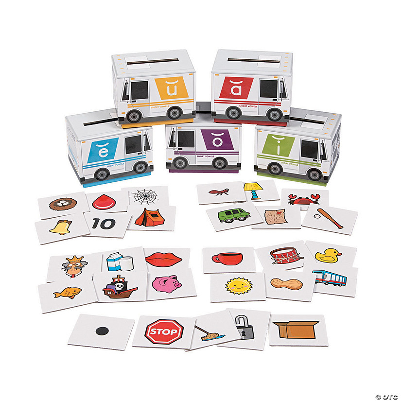 Short Vowel Sorting Boxes