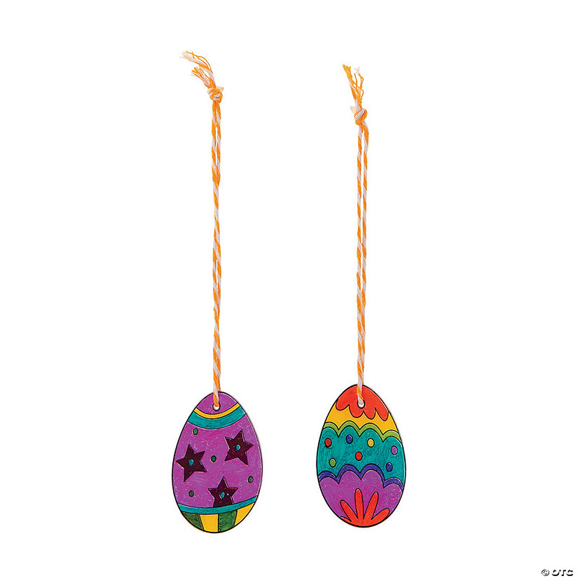 Shrink Plastic Easter Egg Ornament Craft Kit Image Thumbnail