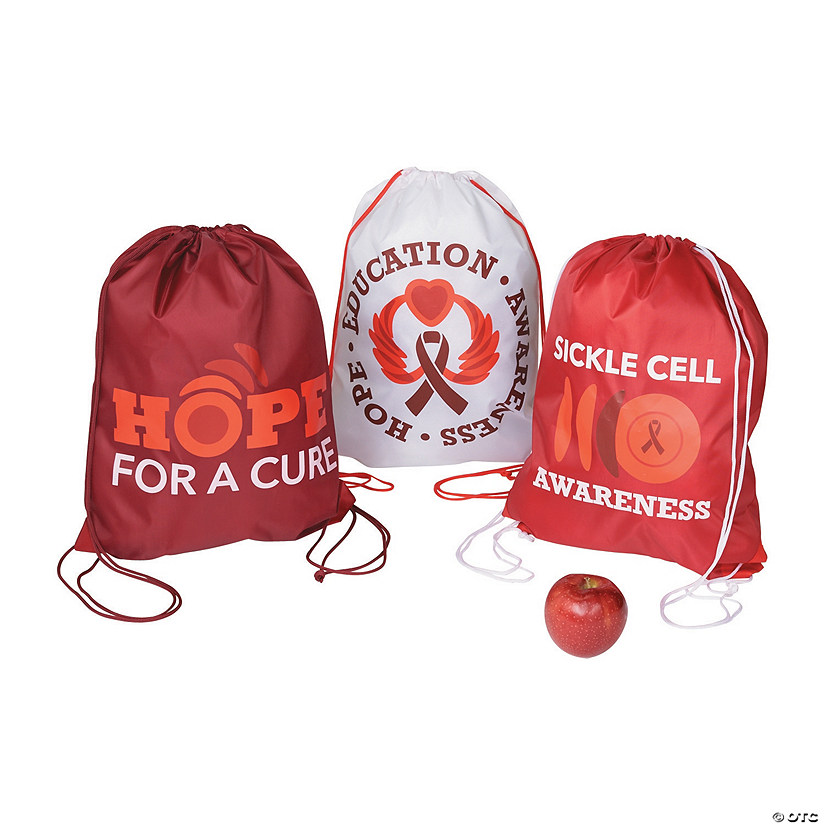 Sickle Cell Awareness Drawstring Backpacks