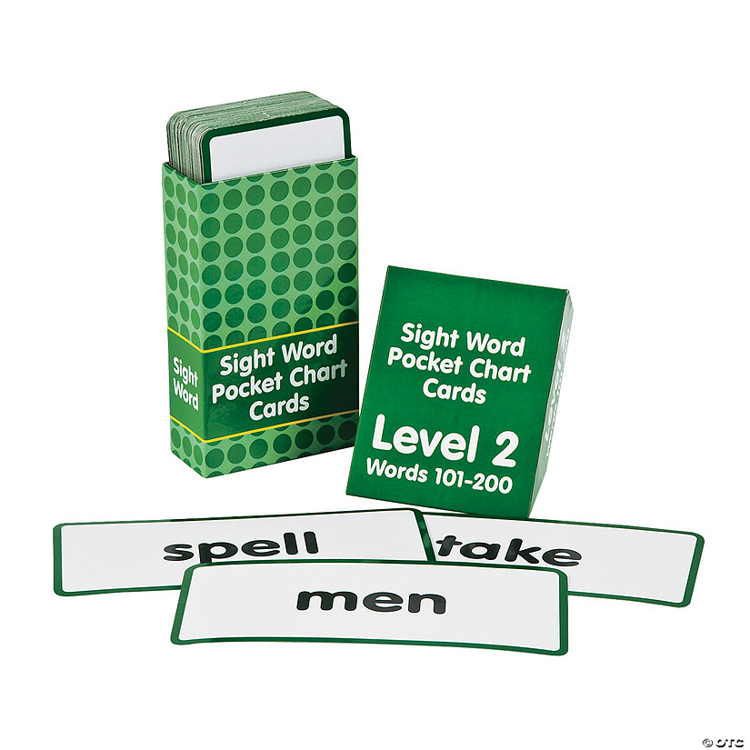 Sight Words Pocket Chart Cards - Level 2 Audio Thumbnail