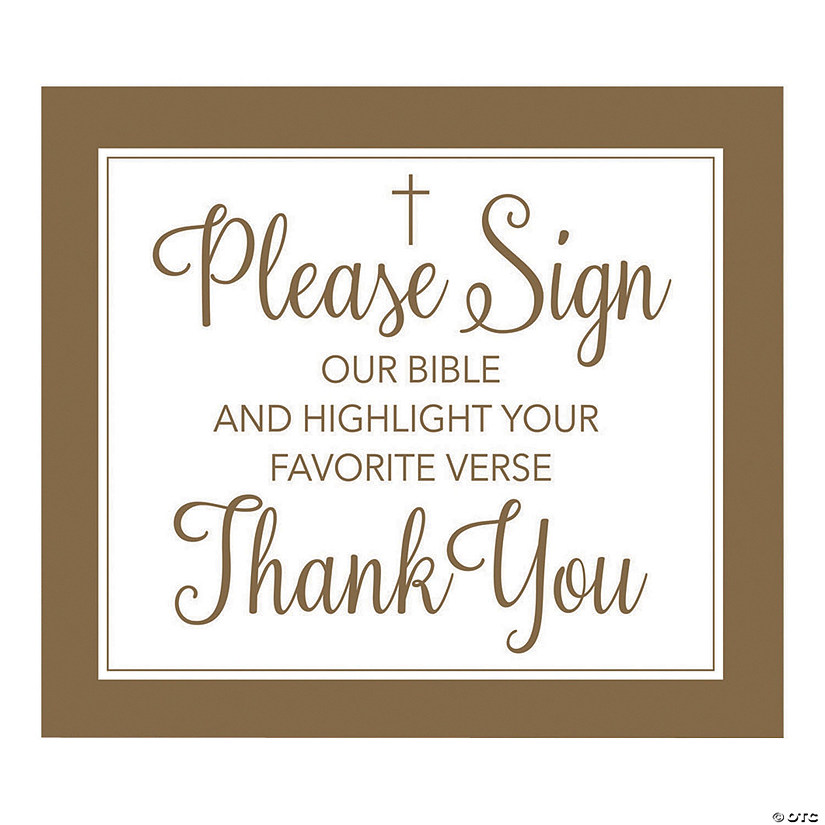 Sign Our Bible Guestbook Sign