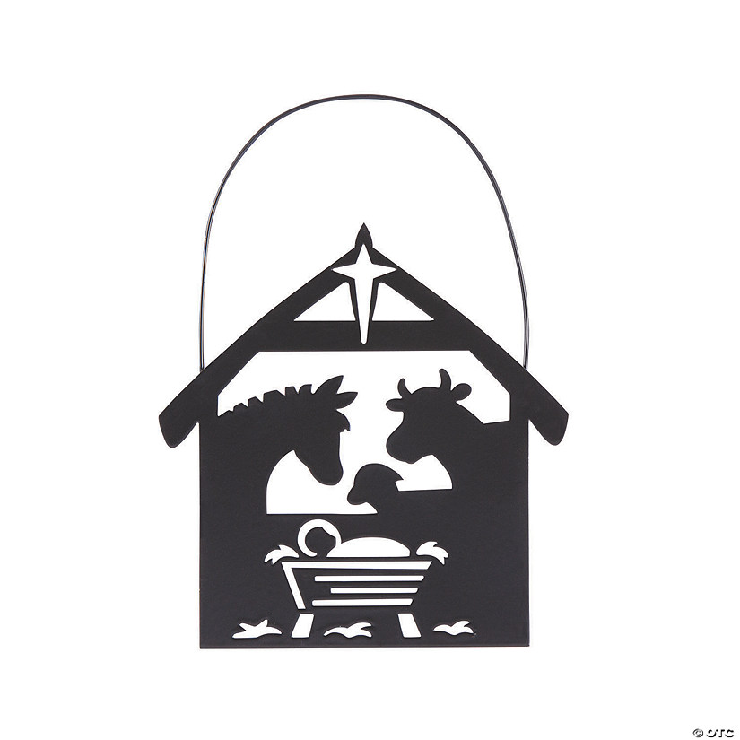 Silhouette Nativity Stable Animals Ornaments Audio Thumbnail