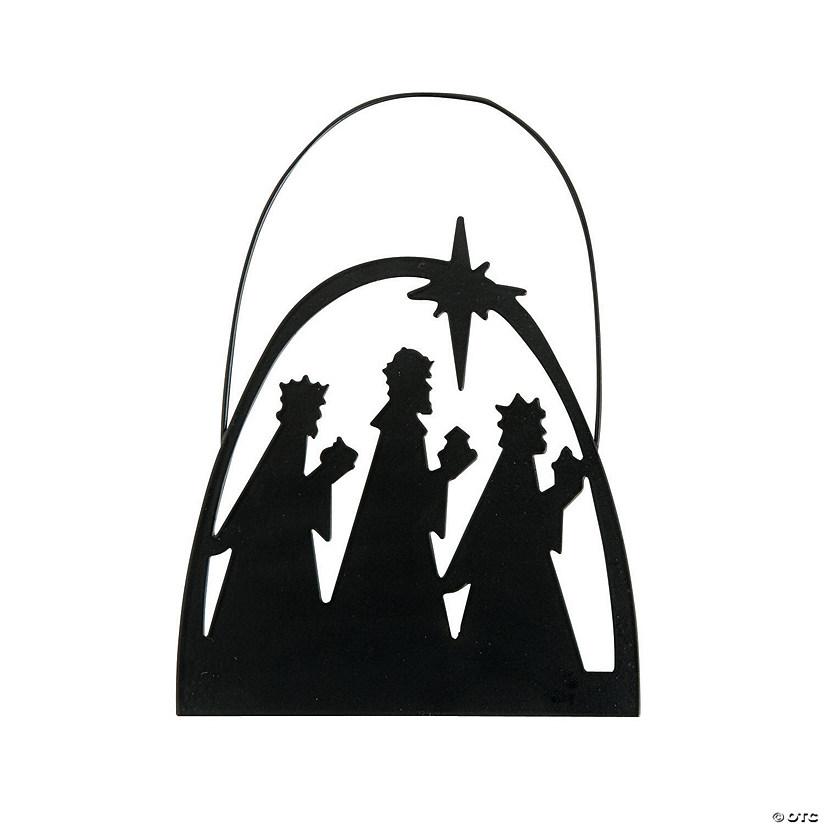 Silhouette Wise Men Christmas Ornaments