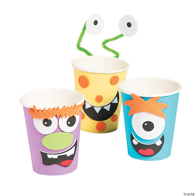 Silly Monster Halloween Treat Cup Craft Kit Audio Thumbnail