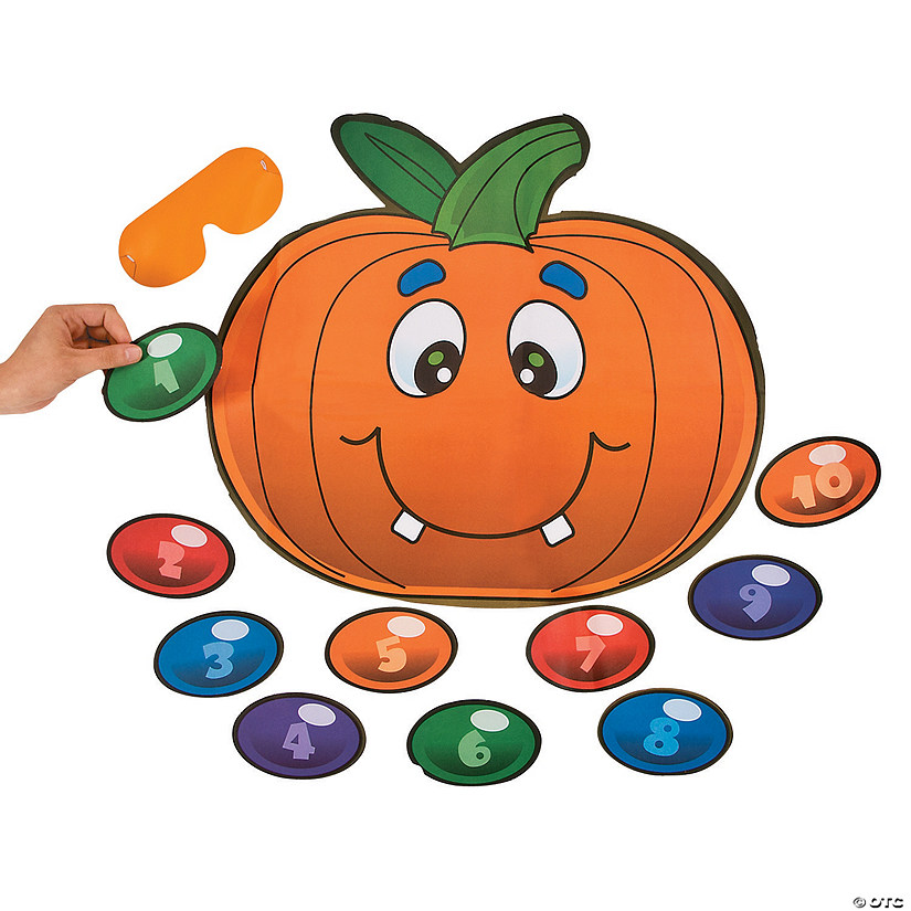 Silly Pin the Nose on the Pumpkin Halloween Party Game Image Thumbnail