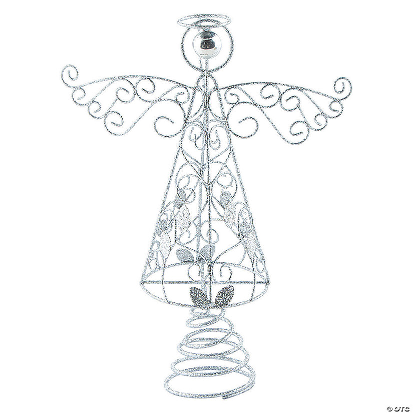 Silver Angel Christmas Tree Topper