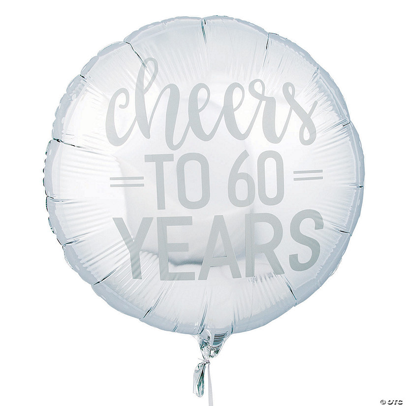 Silver Cheers to 60 Years Mylar Balloon Audio Thumbnail