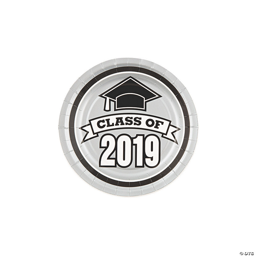 Silver Class of 2019 Paper Dessert Plates Audio Thumbnail