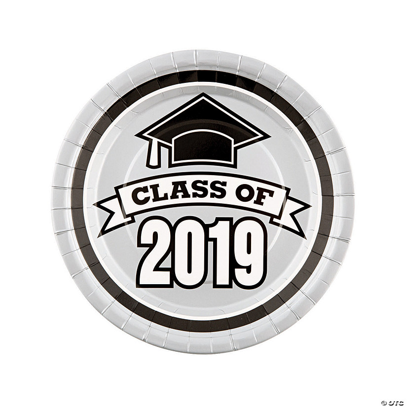 Silver Class of 2019 Paper Dinner Plates Audio Thumbnail