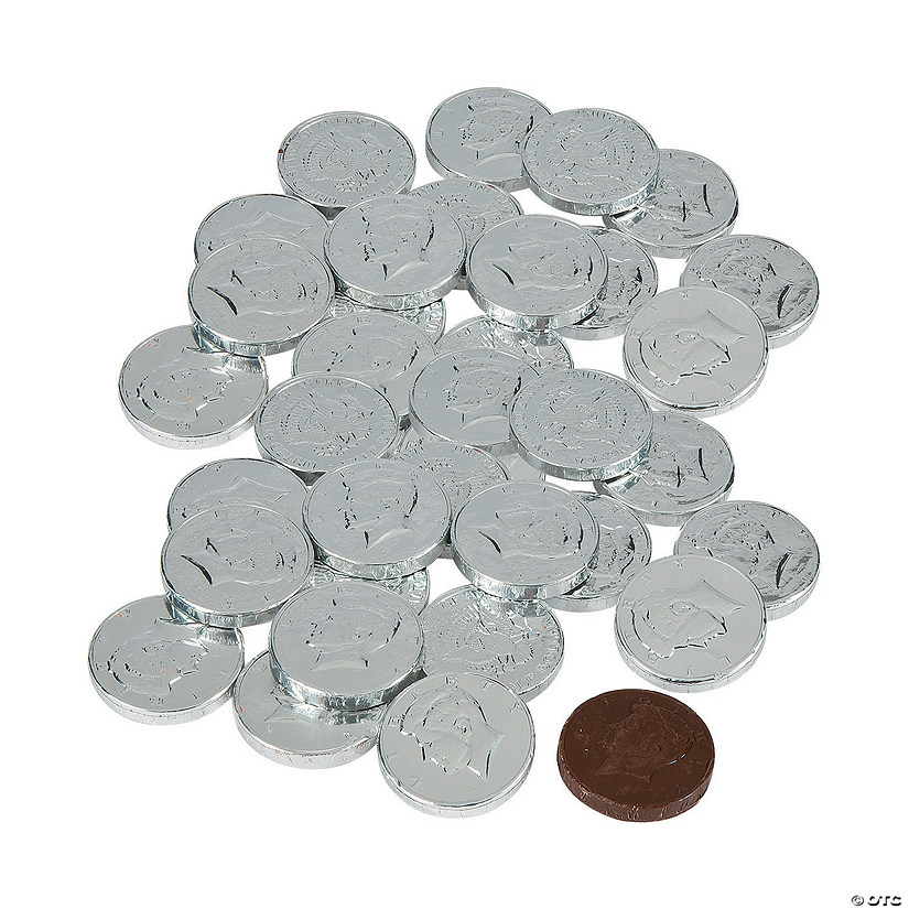 Silver Coins Chocolate Candy